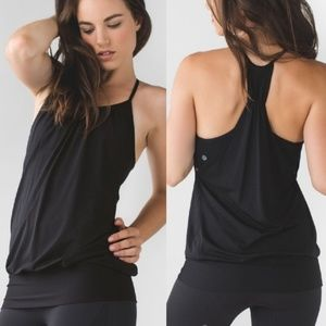 Lululemon No Limits Tank Black Mesh Small